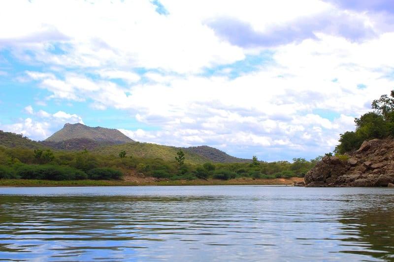 Calm River Hogennakal Waterfalls