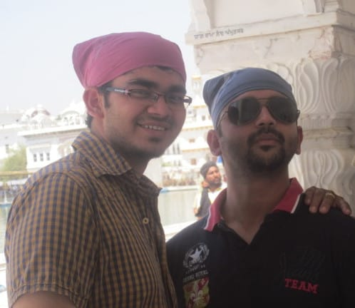 With My brother at Golden Temple