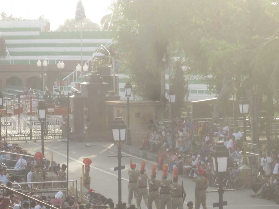 The BSF soldiers ready for the Wagah Border ceremony