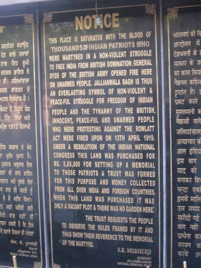 A brief account of Jallianwala Bagh Massacre